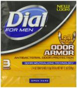 Dial for Men Odour Armour Bar, 3 Count, 120ml Each