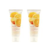 3w Clinic Moisturising Lemon Hand Cream 100ml 2pcs, All Skin Type