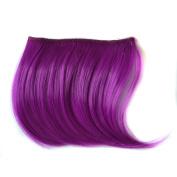 Abwin Coloured Clip in Bangs / Purple
