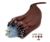 Futuretrend@100s 41cm Loops Micro Rings Beads Tipped Remy Human Hair Extensions Straight 17 Colours in Women Beauty Style size