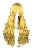 Long Wavy Curly Wig with Bangs Anime Harajuku Halloween Wigs