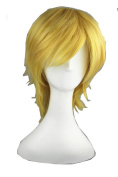 Short Anime Wigs High Quality Universal Gold Cosplay Wigs