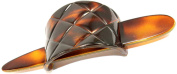 Parcelona French Arch Diamond Pattern Pin Thru Tortoise Shell Pony Hair Clip with Stick