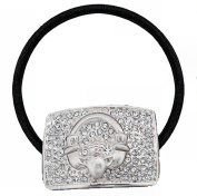 Celtic Claddagh 'Bling' Hair Tie - with Clear CZ