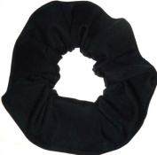 Black Cotton Fabric Hair Scrunchie Handmade by Scrunchies by Sherry