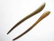 Myhsmooth Zz-gs-bt 2 Count Hair Sticks Natural Green Sandalwood Handmade Carved Hair Clip Shawl Hair Pins Pack of 2 Pcs