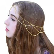 Yoyorule Fashion Women Head Jewellery Chain Headband Headpiece Tassels