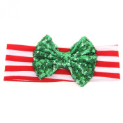 Foreveryang Baby Kids Girls Bowknot Hairband Headband Headwrap Hair Accessory Gift - Green