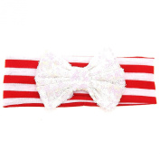 Foreveryang Baby Kids Girls Bowknot Hairband Headband Headwrap Hair Accessory Gift - White
