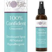 100% Natural. Aluminium Free, Deodorant Spray - Unscented - '100% Confident' - Use Underarm, On Hands & On Feet. Aluminium Free - by Vi-Tae® 130ml