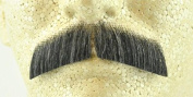 Rubies Basic Gentleman Moustache DARK GREY - no. 2011 - REALISTIC! 100% Human Hair