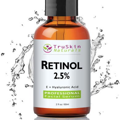 BEST Retinol Serum for Wrinkles & Fine Lines - [BIG 60ml Bottle] -2.5% Vitamin A + Hyaluronic Acid, Vitamin E, Organic Green Tea, Jojoba Oil - Use with TruSkin Naturals Vitamin C Anti Ageing Serum