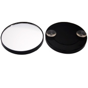 EMILYSTORES 10X Magnifying Mirror With Suction Cup Fixture 8.9cm Plastic Fram