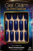 Kiss Gold Finger Gel Glam 24 Nails GFC04 BLUE