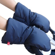 Mightyhand Extra Thick Stroller Hand Muff Winter Waterproof Anti-freeze Gloves for Parents and Caregivers