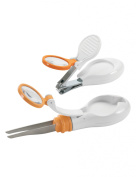 Safety First Clear View Nail Clipper & Tweezer Set