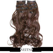 Neitsi® 50cm 140g Curl Wavy Full Head Clip In/on Synthetic Hair Extensions 7pcs