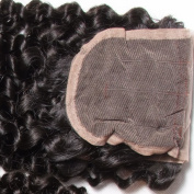 B & F Hair 7a Brazilian Curly Virgin Hair 3 Bundles Weave with 1pieces 3 Part Lace Frontal Closure for Women 100% Unprocesed Human Hair Extensions Natural Colour
