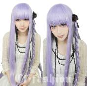 Danganronpa Dangan-ronpa 2 Kyouko Kirigiri Long Cosplay Wig + Cap Cos Hallowmas Without Hair Accessories