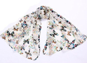 FuzzyGreen® Scarf Shawl Butterfly Autumn Thin Wrapping Women Girls Throw Stole Soft