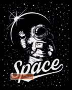 Astronaut in Space Counted Cross Stitch Kit