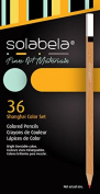 Solabela Triangular Coloured Pencils - Set of 36. Premium Quality Artist Set