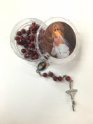 Pope Francis Rose Scented Bead Rosary Blessed By Pope Blessed/religious Gift/ Party Favour/ Baptism Gift/