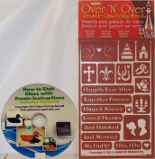 Happy Ever After Wedding, Marriage Glass Etching Stencils + Free How to eBook on CD
