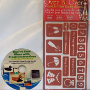 Over N Over, Wedding & Font Number Stencils for Glass Etching & Painting + Free How to Ebook on CD