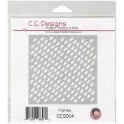 C.C. Designs Stencils 15cm x 15cm -Fishes