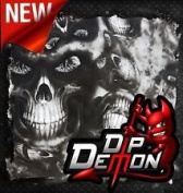 Dip Wizard- Dip Demon Hooded Skulls Hydrographic Film Water-Transfer Hydro Dipping