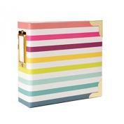 Project Life Heidi Swapp Scrapbook Album - 10cm by 10cm - Stripes