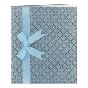 Pioneer Photo Albums Diamond Fabric Ribbon Scrapbook, Blue