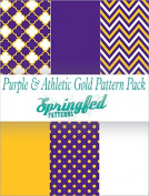 PURPLE & GOLD THEME PACK #2 Craft Vinyl Team Inspired Pattern Craft Vinyl Pack