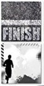 Reminisce - The Running Collection Scrapbook Papers - Finish Line 5pc