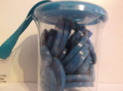 Various Sizes *Teal* Button Bucket
