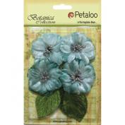Botanica Vintage Velvet Peonies 4/Pkg-Teal
