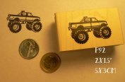 P92 Monster truck rubber stamp