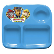 Zak Designs Toddlerific 3-Section Toddler Plate with Paw Patrol Characters, No-Tip, BPA-Free Plastic