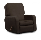 Shermag Grand Upholstered Glider, Chocolate