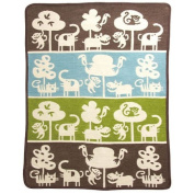 "KLIPPAN Klippan  Cotton mini blanket ""safari / Brown"" 70 ~ 90"