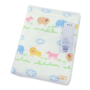 Nishikawa industry Animal Park pattern cotton blanket LCH0709800-M LA9200