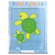 100% Cotton Baby Keiki Kuddles Blanket Honu Turtle Family Blue