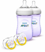 Philips AVENT Natural Bottle Gift Set, Purple