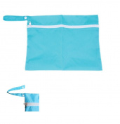 Winstory Travel Baby Wet and Dry Cloth Nappy Organiser Bag Waterproof Buggy Stroller Mummy Bag Outdoor Blue