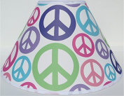Peace Sign Lamp Shades / Peace Signs Childrens Room Decor