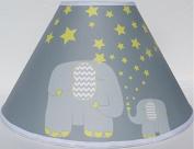 Yellow Elephant Lamp Shades / Elephant Nursery Decor with Stars and Moon