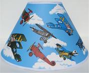 Vintage Aeroplane Lamp Shades / Aeroplane Nursery Decor