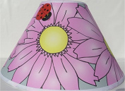 Pink Gerber Daisy Flower Lamp Shade / Ladybug Lamp Shade