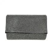 Premium Small Full Rhinestone Cover Flap Clutch Evening Bag Handbag -Diff Colours